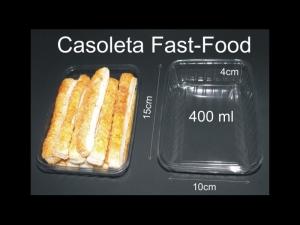 Caserole plastic fast-food
