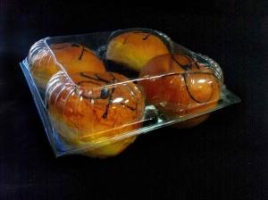 Caserole plastic pentru 4 gogosi
